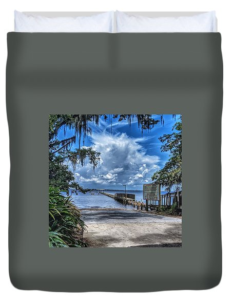 Strolling By The Dock Duvet Cover