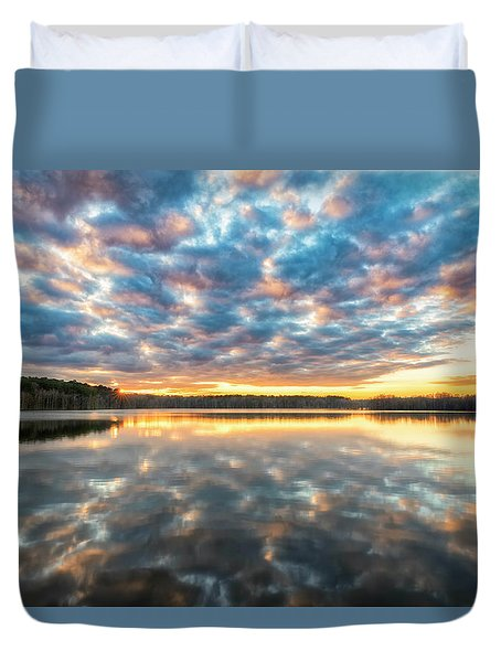 Duvet Cover featuring the photograph Stumpy Kinda Of Reflection by Russell Pugh