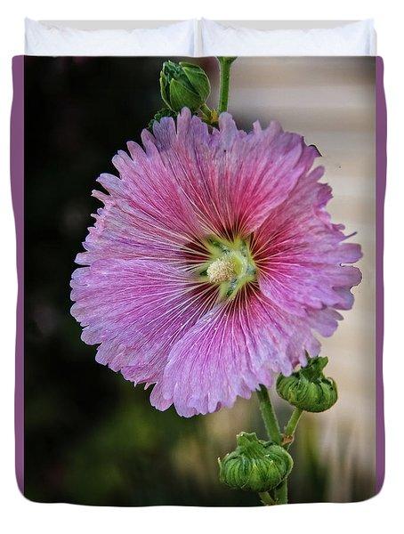 Stunning Pink Hollyhock Duvet Cover