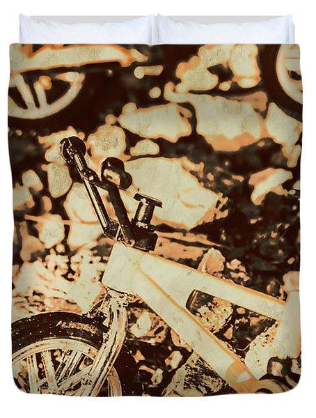 Stunt Bike Country Duvet Cover