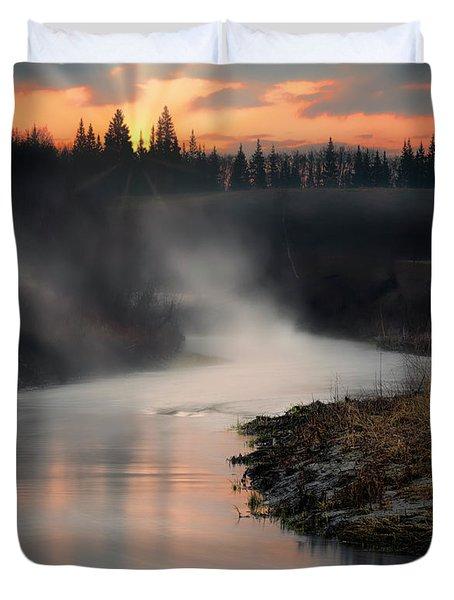 Sturgeon River Morning Duvet Cover