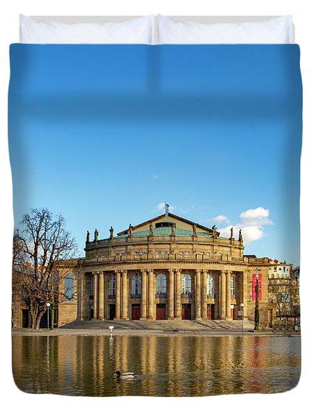 Stuttgart State Theatre Duvet Cover