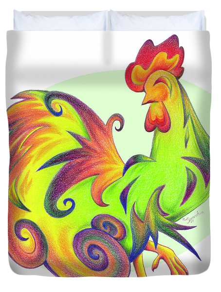 Stylized Rooster I Duvet Cover