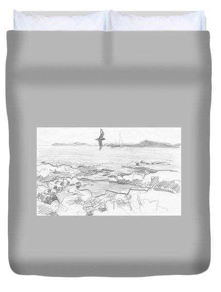 Subantarctic Island Duvet Cover