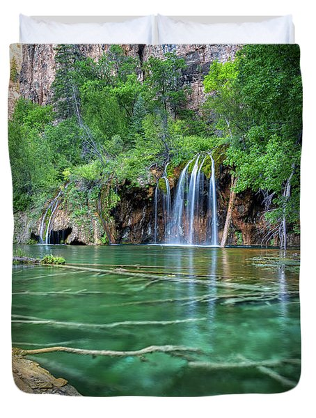 Submerged Log, Hanging Lake Colorado Duvet Cover