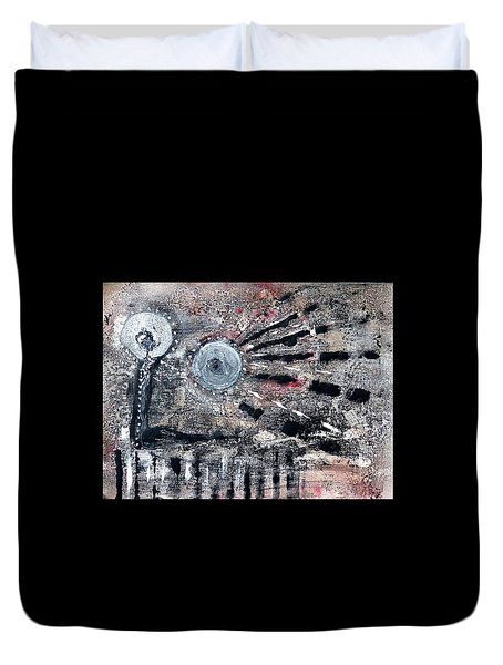 Duvet Cover featuring the painting Succinct by 'REA' Gallery