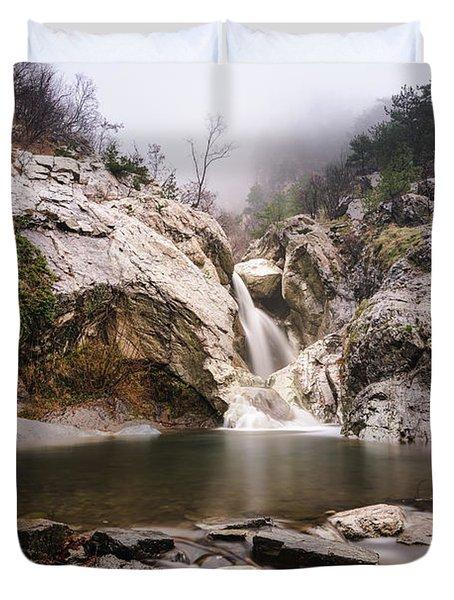 Suchurum Waterfall, Karlovo, Bulgaria Duvet Cover