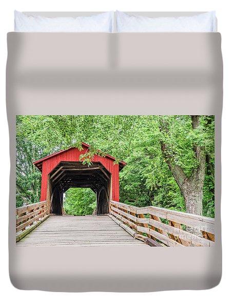 Sugar Creek Covered Bridge Duvet Cover