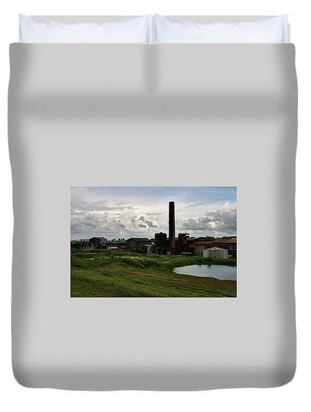 Sugar Factory I, Usine Ste. Madeleine Duvet Cover