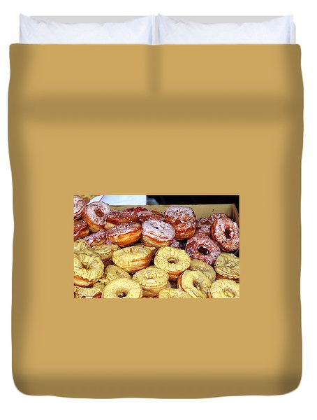 Sugar Frosted Donuts On Sale Duvet Cover
