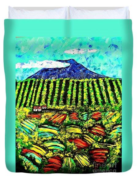 Sumatra Coffee Plantation Duvet Cover