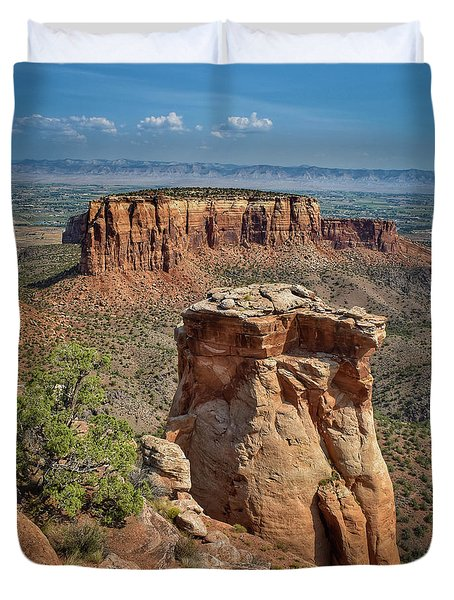 Summer At Colorado National Monument  Duvet Cover