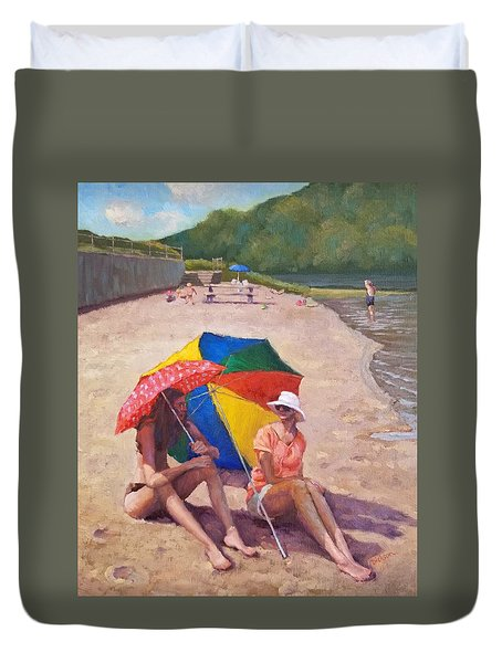 Summer At Jersey Valley Duvet Cover