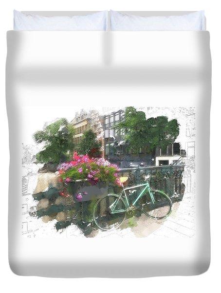 Summer In Amsterdam Duvet Cover