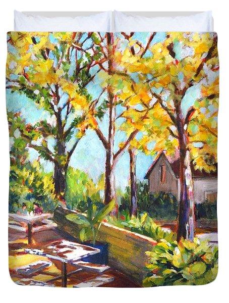 Summer In Edwards Garden, Toronto Duvet Cover