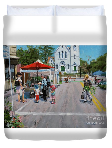 Summer In Hingham Three Duvet Cover