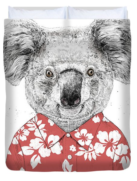 Summer Koala Duvet Cover