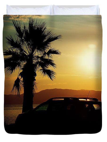 Duvet Cover featuring the photograph Summer Life by Milena Ilieva