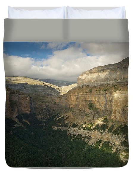 Duvet Cover featuring the photograph Summer Magic In The Ordesa Valley by Stephen Taylor