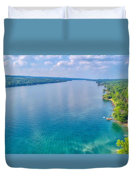 Summer On Keuka Lake Duvet Cover