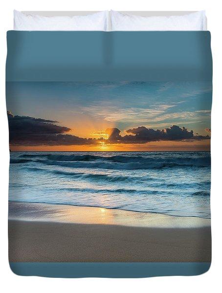 Sun Glow Seascape Duvet Cover
