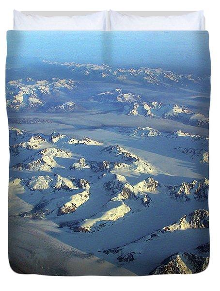 Sun Kissed Glaciers Duvet Cover