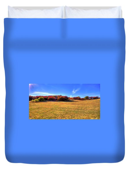 Duvet Cover featuring the photograph Sun On Magpie Forest by David Patterson