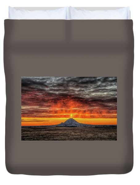 Sunday Sunrise Nov. 11, 2018 Duvet Cover