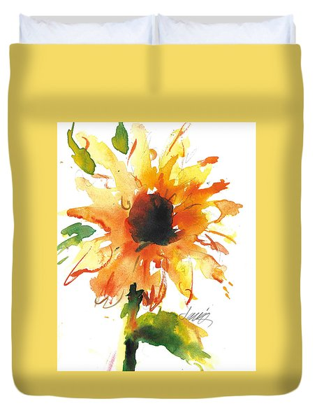 Sunflower Too - A Study Duvet Cover