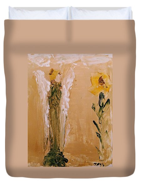 Sunflower Angel Duvet Cover