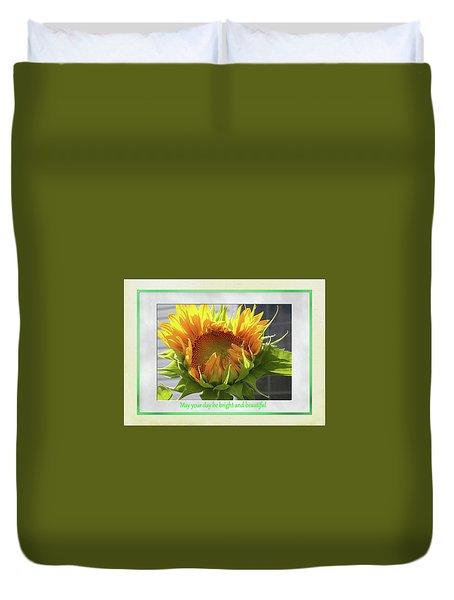 Sunflower Birthday Duvet Cover