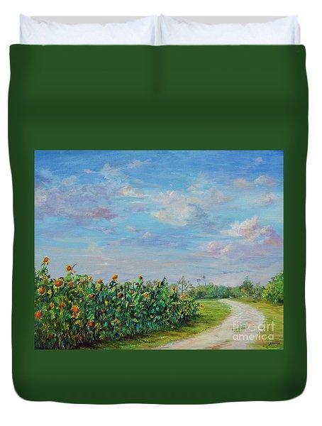 Sunflower Field Ptg Duvet Cover
