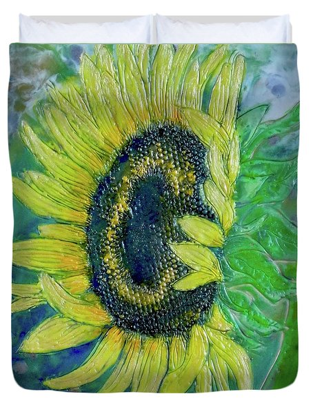 Sunflower Smiles Duvet Cover