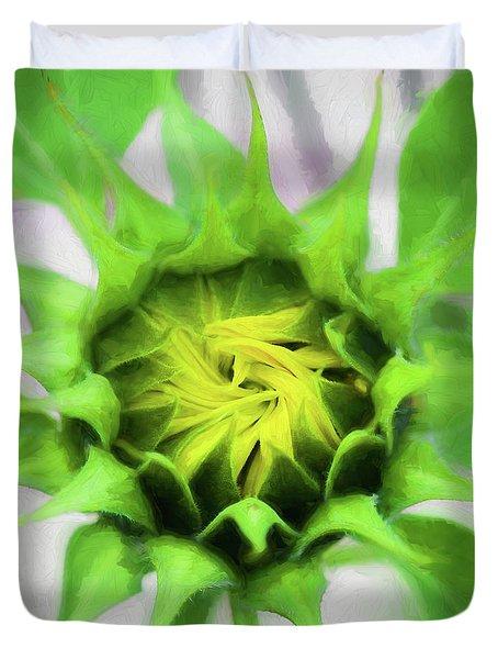 Sunflowers  Helianthus 030 Duvet Cover