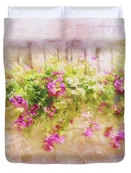 Sunkissed Flowers Duvet Cover