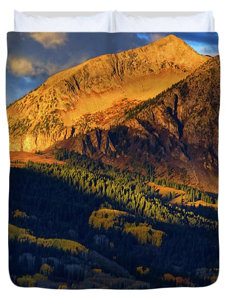 Sunlight Along The Mountain Duvet Cover