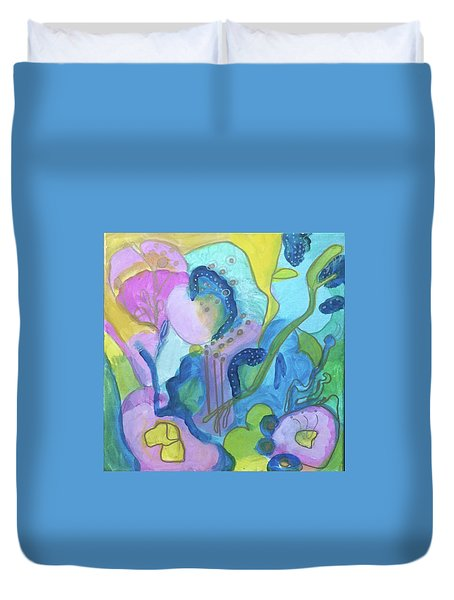 Sunny Day Abstract Duvet Cover