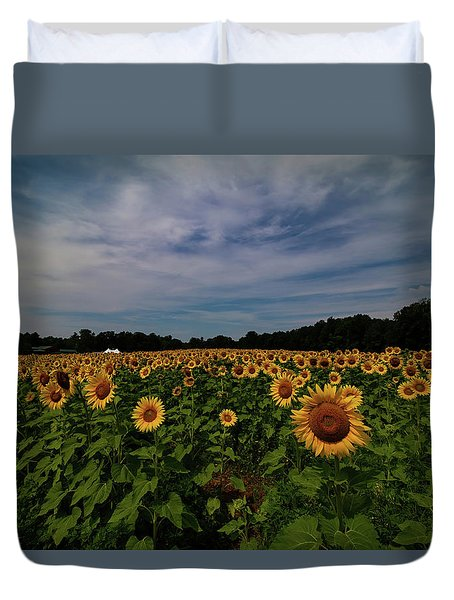 Sunny Faces In New Hampshire Duvet Cover