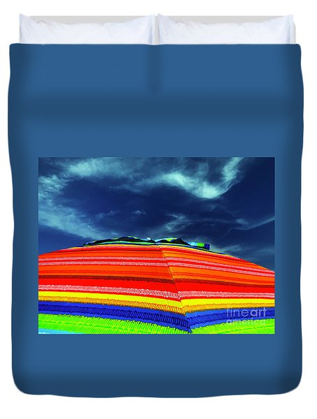Duvet Cover featuring the photograph Sunny Side Up by Rick Locke