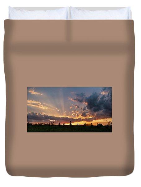 Sunrays At Sunset Duvet Cover