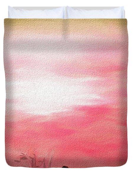 Sunrise At Horicon Marsh N W R Duvet Cover