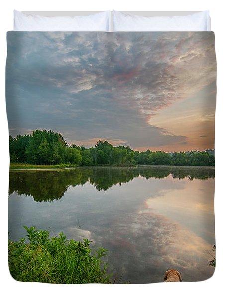 Sunrise At Ross Pond Duvet Cover