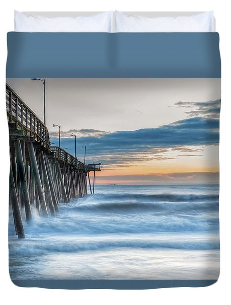 Duvet Cover featuring the photograph Sunrise Bliss by Russell Pugh