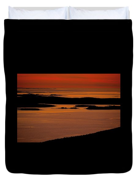 Sunrise Cadillac Mountain Duvet Cover