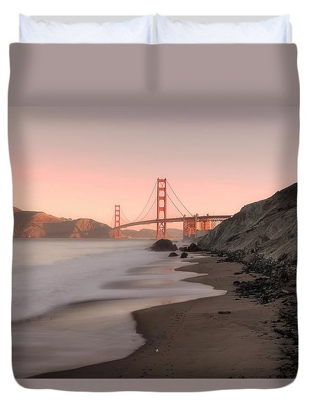 Sunrise In San Fransisco- Duvet Cover