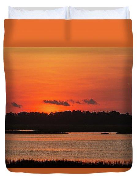 Sunrise Over Drunken Jack Island Duvet Cover