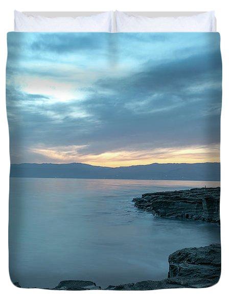 Before Dawn At The Dead Sea Duvet Cover