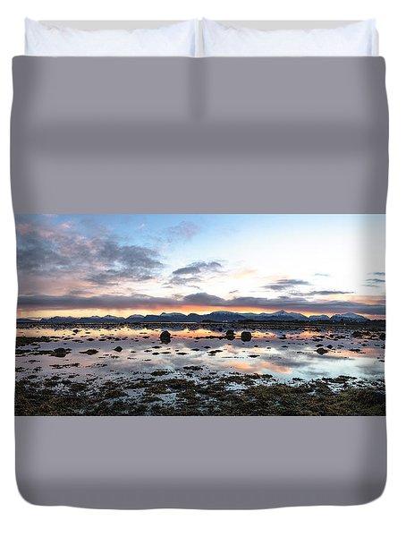 Sunrise Over The Marsh Duvet Cover