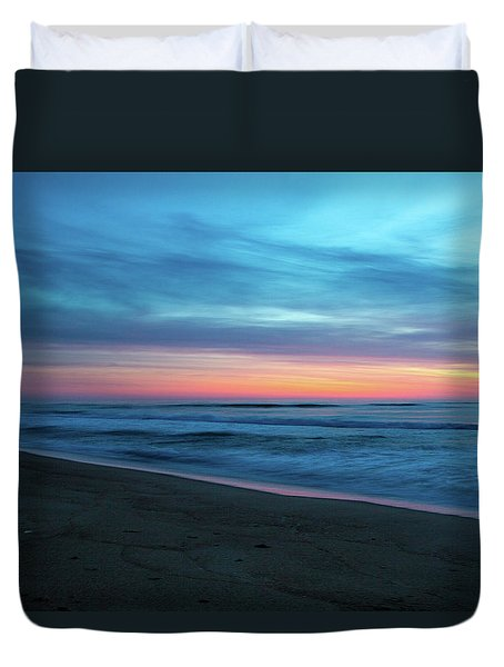 Duvet Cover featuring the photograph Sunrise Over The Outer Banks by Lora J Wilson