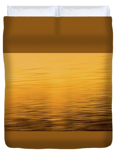 Duvet Cover featuring the photograph Sunrise Reflections Abstract by Dan Sproul